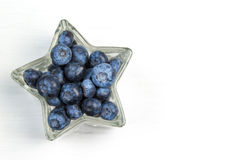 Blueberry in a star shaped bowl Stock Photo