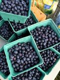 Blueberry still. Blueberries in container Royalty Free Stock Photos