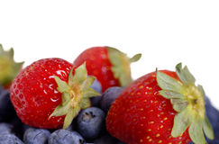 Blueberry and strawberry Stock Image