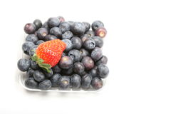 Blueberry and strawberry Royalty Free Stock Photos