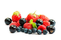 Blueberry, strawberry and raspberry Royalty Free Stock Images
