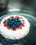 Blueberry Strawberry whipped pie Stock Image