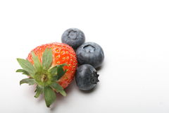 Blueberry and strawberry Royalty Free Stock Photo