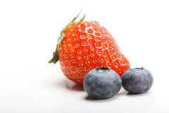 Blueberry and strawberry Stock Photo
