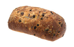Blueberry streusel bread loaf on a white background. Stock Photography