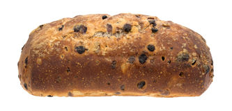 Blueberry streusel bread loaf on a white background. Royalty Free Stock Images