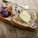 Blueberry Swirl Bread Toasts Stock Image