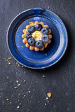 Blueberry tart Stock Photography