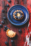 Blueberry tart Royalty Free Stock Images