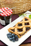 Blueberry tarts Stock Photography