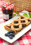 Blueberry tarts Royalty Free Stock Images