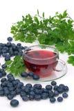 Blueberry tea. Fruit tea, blue blueberry tea Royalty Free Stock Photo