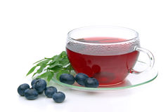 Blueberry tea Stock Photo