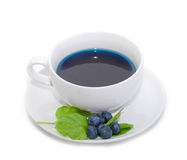 Blueberry tea Stock Photography
