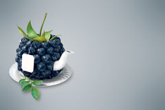 Blueberry tea cup Royalty Free Stock Images