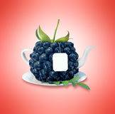 Blueberry tea cup. Healthy food. Blueberry drink Stock Image