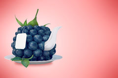Blueberry tea cup. Healthy food. Blueberry drink Royalty Free Stock Images