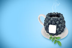 Blueberry tea cup Stock Photo