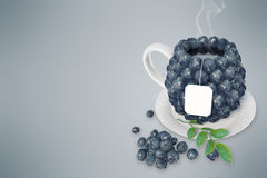 Blueberry tea cup Royalty Free Stock Photo