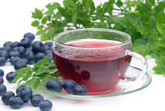 Blueberry tea Stock Image