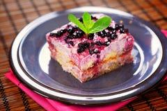 Blueberry tiramisu Royalty Free Stock Photo
