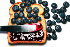 Blueberry toast Royalty Free Stock Photo