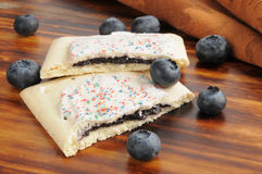 Blueberry toaster pastries Stock Image