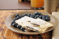 Blueberry toaster tarts Royalty Free Stock Photos