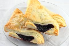 Blueberry Turnover Stock Photography