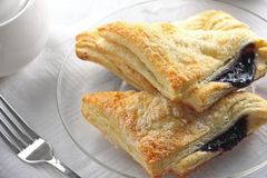 Blueberry Turnover with Fork Royalty Free Stock Image