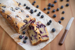 Blueberry Vanilla Cake Stock Photos