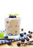 Blueberry vanilla pudding Stock Image