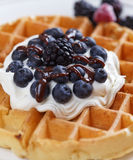 Blueberry waffle Royalty Free Stock Photography