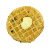 Blueberry waffle with butter and honey Stock Photography