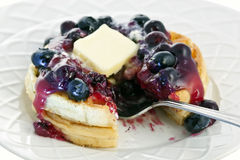Blueberry waffles Royalty Free Stock Images