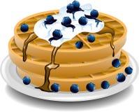 Blueberry waffles Stock Image