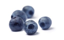 Blueberry on white Stock Photo