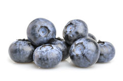 Blueberry  on white background Royalty Free Stock Images