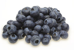Blueberry in a white background Stock Images