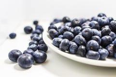 Blueberry. On white plateand white background Stock Image