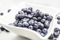 Blueberry. On white plateand white background Royalty Free Stock Images