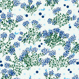 Blueberry wild leaf dot seamless pattern royalty free illustration