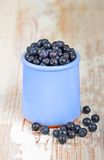 Blueberry on wooden background Royalty Free Stock Photo