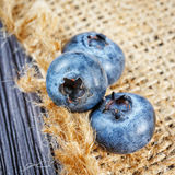 Blueberry on wooden board Royalty Free Stock Photo