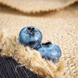 Blueberry on wooden board Stock Photo