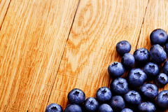 Blueberry on wooden table Royalty Free Stock Images