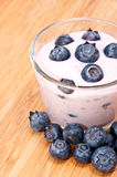 Blueberry Yoghurt Royalty Free Stock Image