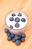 Blueberry Yoghurt Stock Photos