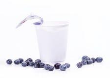 Blueberry yoghurt stock photos