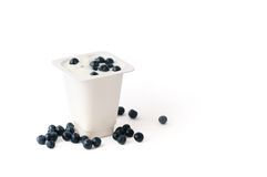 Blueberry yogurt Royalty Free Stock Photos